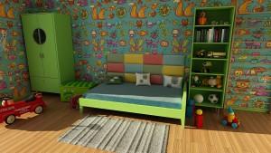 Kinderkamer aankleden