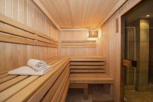 sauna in de badkamer